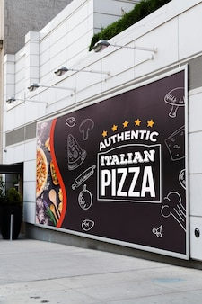 Рекламный щит концепции макета