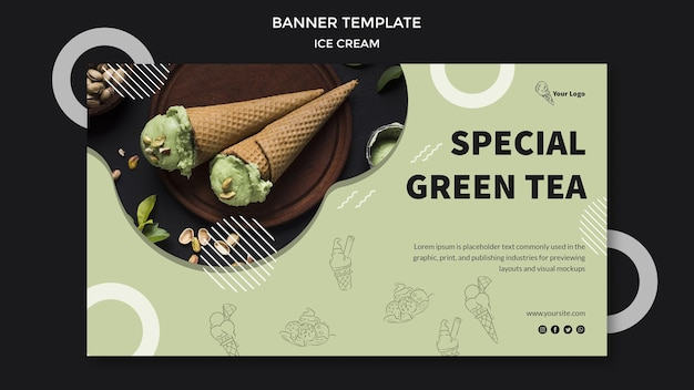 Баннер с концепцией мороженого