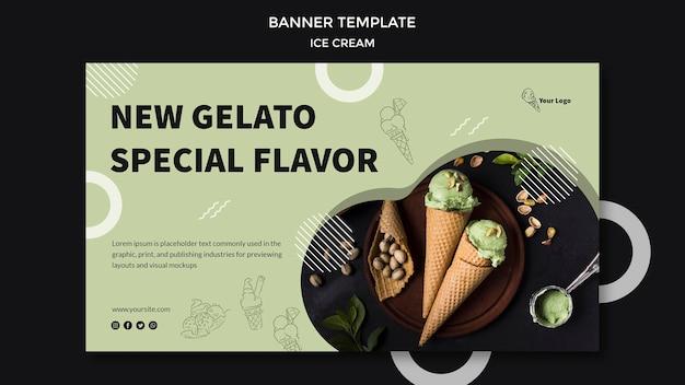 Баннер с дизайном мороженого
