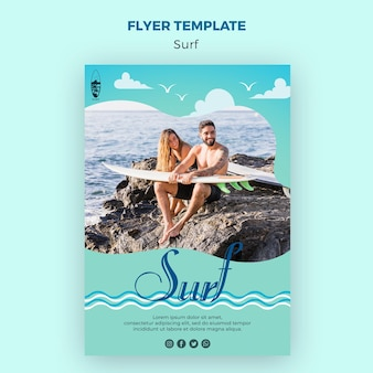 Шаблон флаера для серфинга