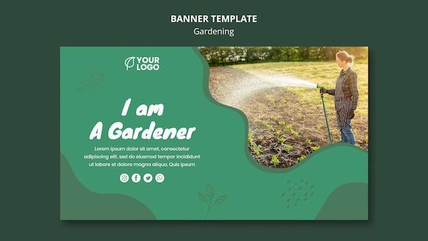 Шаблон баннерной концепции садоводства