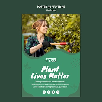 Шаблон плаката садоводства концепции