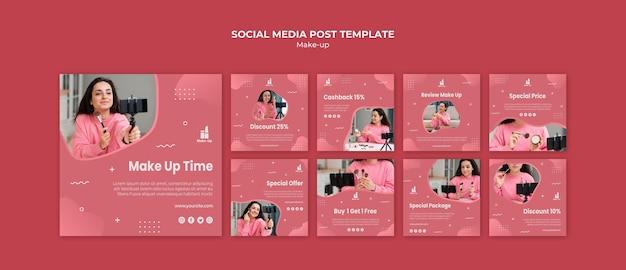 Макияж продукты в социальных сетях
