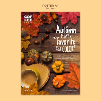 Осенний шаблон плаката