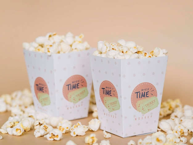 Вид спереди кинотеатра попкорн