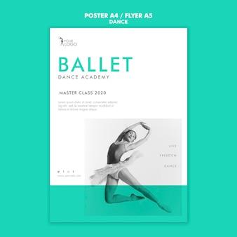 Шаблон плаката академии танца