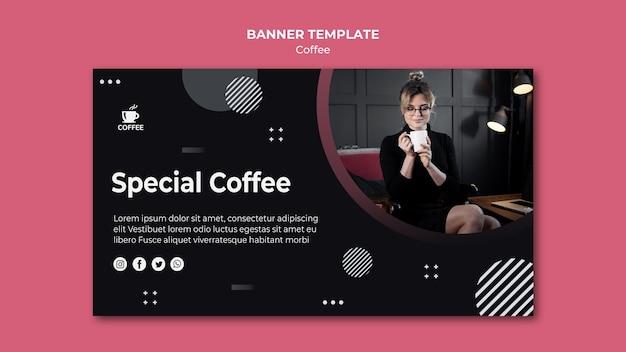 Специальная концепция кофе баннер