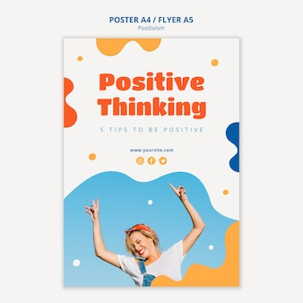 Позитивное мышление дизайн плаката
