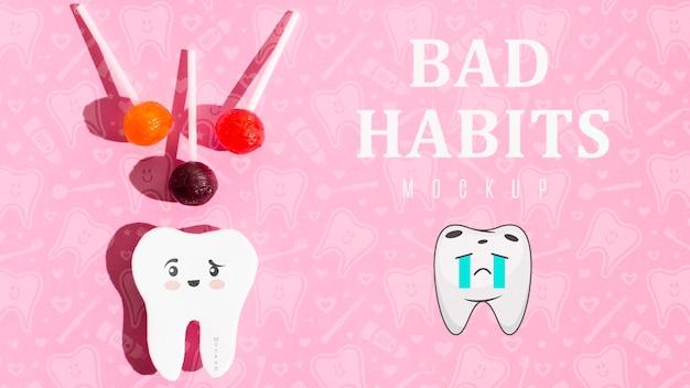 モックアップによる歯痛の悪い習慣