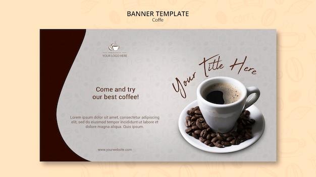 Кофейная концепция дизайн баннера