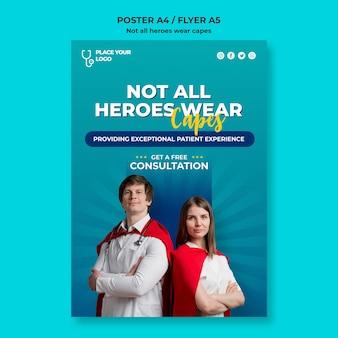 すべてのヒーローがケープのコンセプトテンプレートを着用しているわけではありません
