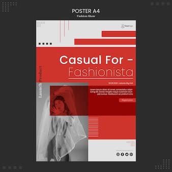 Плакат показа мод