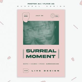 Сюрреалистический дизайн-шаблон постера