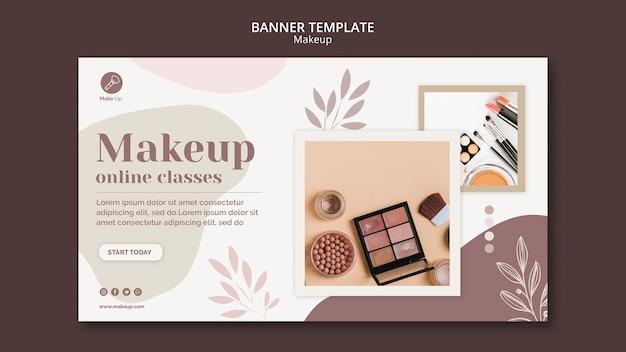 Шаблон баннер концепции макияжа