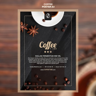 コーヒーコンセプトポスターテンプレート