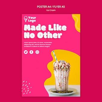 Сделано, как никакой другой шаблон плаката мороженого