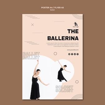 Шаблон плаката для балета