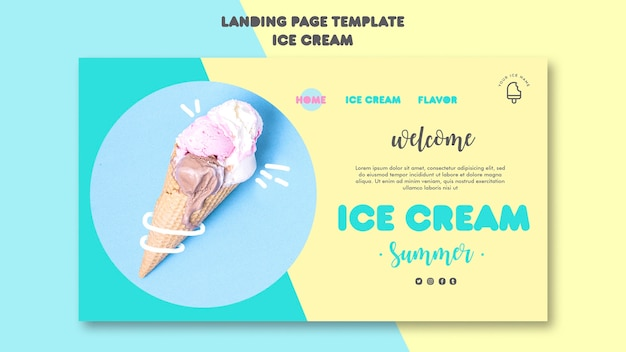 アイスクリーム着陸ページ