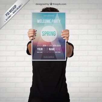 春のパーティーのポスター
