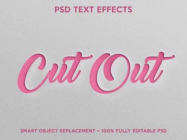 Вырезать текстовый эффект