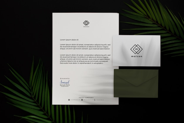 現代の緑のプロのビジネス文具