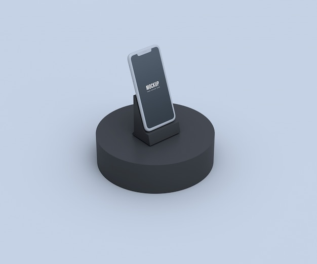 Мягкий мобильный макет экрана