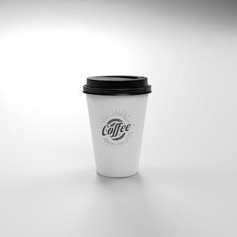 コーヒーはカップモックアップを取り去る
