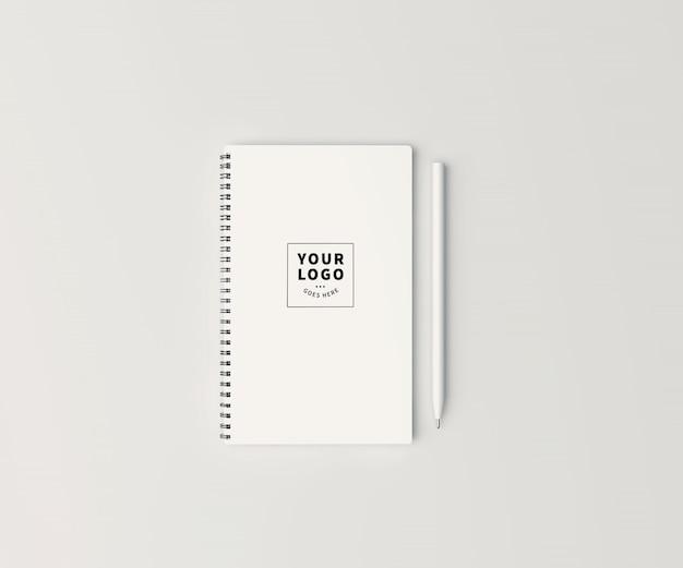 ペンモックアップ付き平面図ブロックノート
