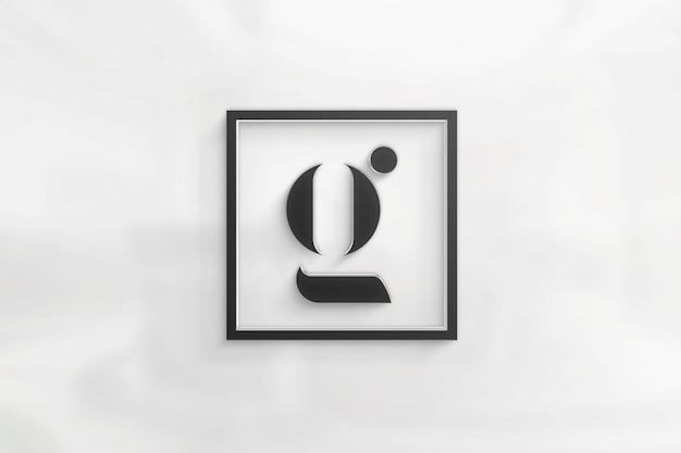 シンプルでエレガントなロゴのモックアップ