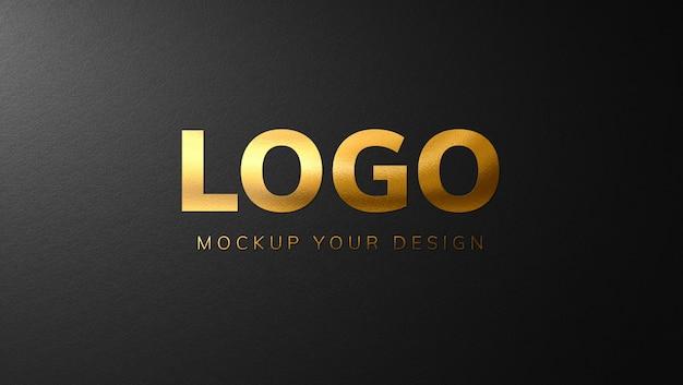 高級ゴールドロゴモックアップデザイン