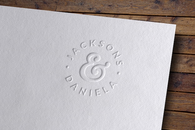 Макет логотипа с тиснением