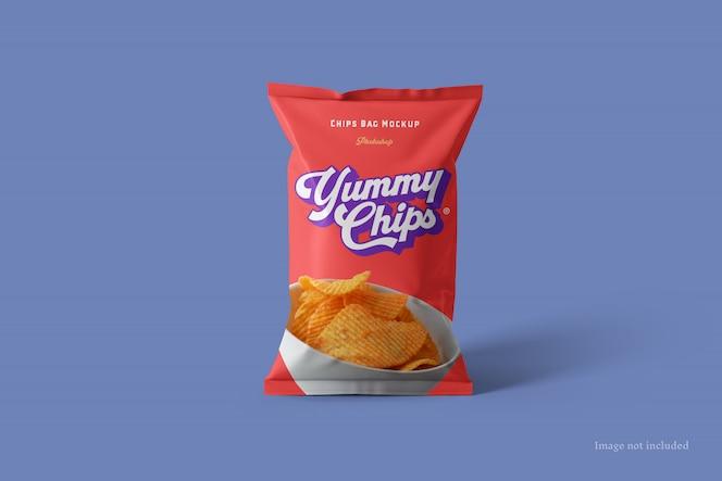 Макет сумки для чипсов