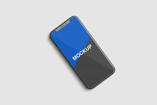 最新のスマートフォン画面のモックアップ