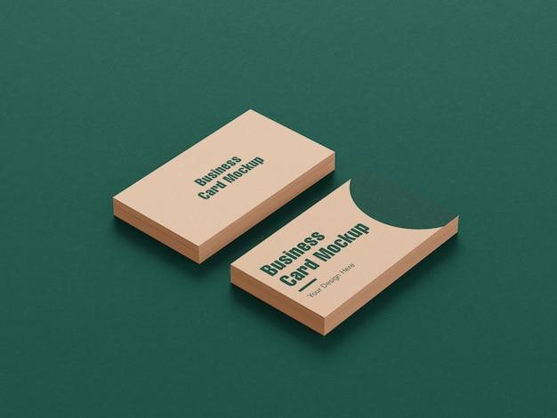 Визитная карточка и макет визитной карточки