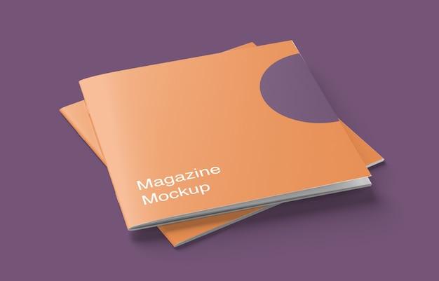 雑誌やパンフレットの表紙のモックアップ