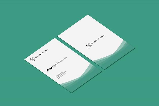 Портрет макет визитки