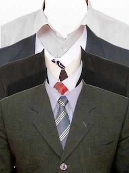 シャツとスーツのサイズのモックアップ。