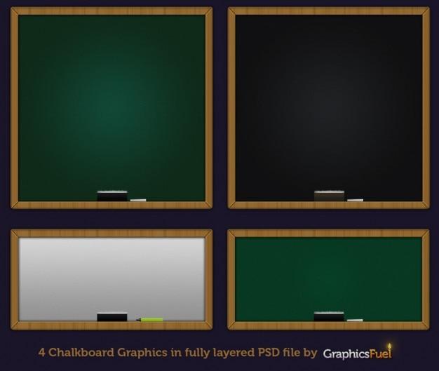二つの色の学校黒板