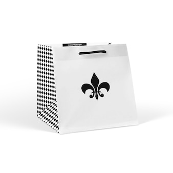 Белая бумажная сумка для покупок макет