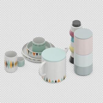 Изометрические чайные кружки