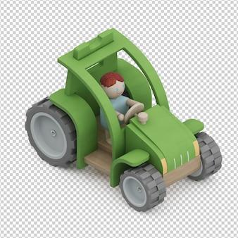 アイソメ子供車のおもちゃ