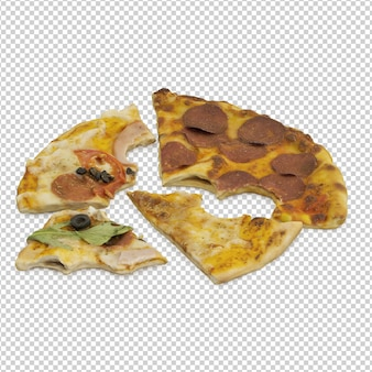 等角投影ピザ