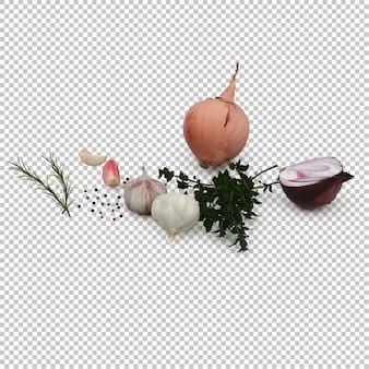 Изометрические овощи