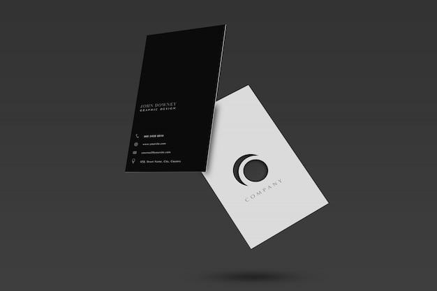 Макет пустой визитки