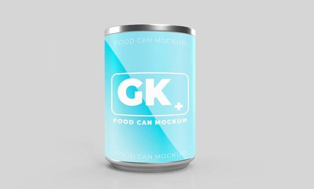 モックアップの水滴付き包装缶