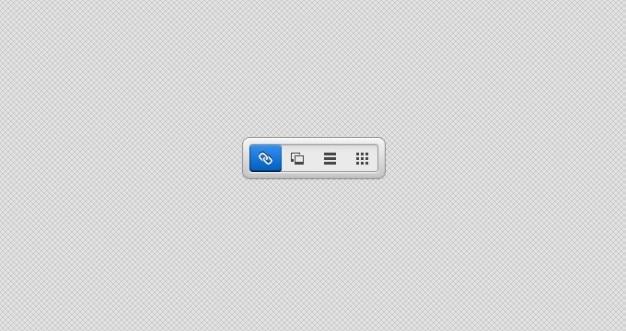 Четкие сегментированный управления пользовательского интерфейса