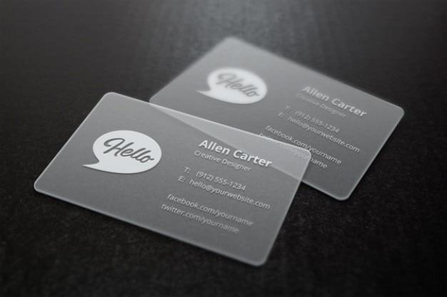 グレーのモックアップビジネスカード