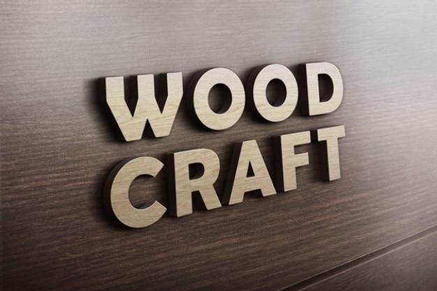 木材工芸ロゴモックアップ