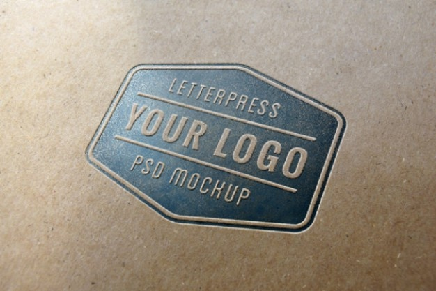 Синий высокой печати логотип макет