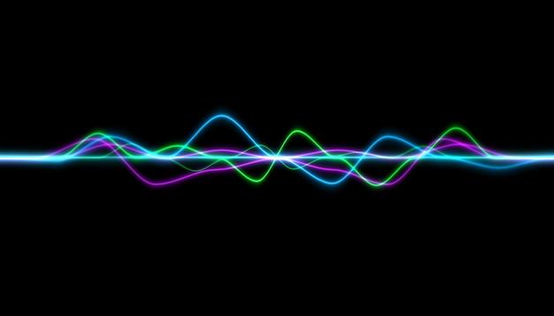 背景に抽象的なカラフルな波